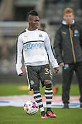 Christian Atsu (Newcastle United) before the EFL Cup 4th round match between Newcastle United and Preston North End at St. James's Park, Newcastle, England on 25 October 2016. Photo by Mark P Doherty.