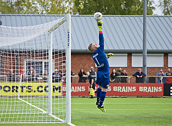 RHOSYMEDRE, WALES - Sunday, May 5, 2019: The New Saints' captain goalkeeper Paul Harrison makes a save during the FAW JD Welsh Cup Final between Connah's Quay Nomads and The New Saints at The Rock. (Pic by David Rawcliffe/Propaganda)
