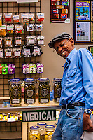 Medicinal sales counter, Medicine Man Denver is the single largest legal medical and recreational marijuana dispensary in Denver, Colorado USA. Their 20,000 sq. ft. facility will soon double in size. Radio frequency ID tags and 65 video cameras allow the State of Colorado to track inventory through the growing process and all plant weight is accounted for. Medicine Man won the High Times' Cannabis Cup for best sativa (Jack Herer). 20-30 strains are available for sale daily.