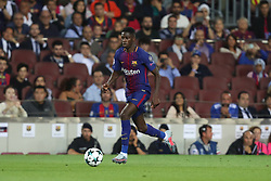 September 12, 2017 - Barcelona, Spain - Ousmane Dembele of FC Barcelona during the UEFA Champions League, Group D football match between FC Barcelona and Juventus FC on September 12, 2017 at Camp Nou stadium in Barcelona, Spain. (Credit Image: © Manuel Blondeau via ZUMA Wire)