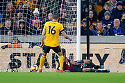 Wolverhampton Wanderers goalkeeper Rui Patricio (11) looks back as Newcastle United defender Isaac Hayden (14) (not shown) scores a goal to make it 0-1 during the Premier League match between Wolverhampton Wanderers and Newcastle United at Molineux, Wolverhampton, England on 11 February 2019.