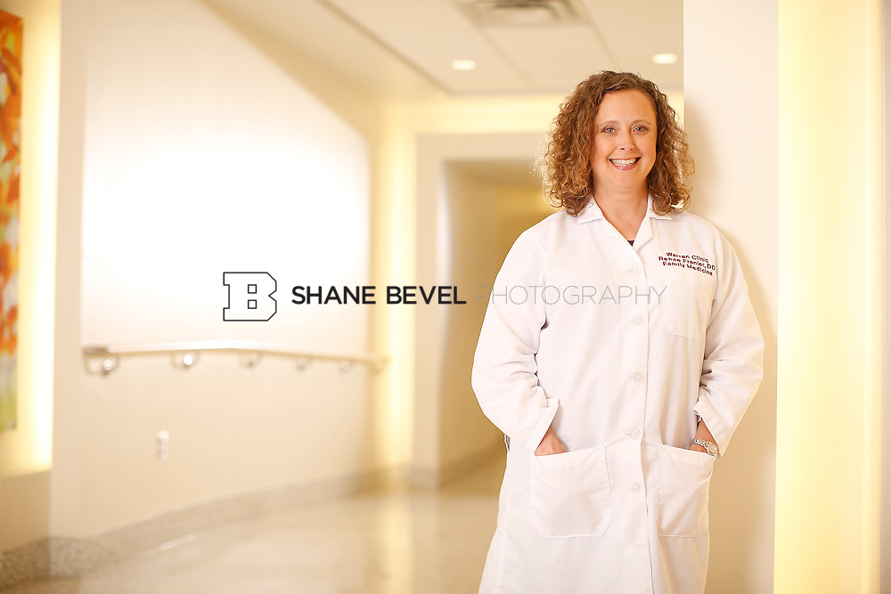 5/28/15 4:19:14 PM -- Dr. Renee Frenier of Saint Francis Health System poses for a portrait for the 2015 Advertising Campaign. <br /> <br /> Photo by Shane Bevel
