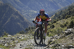 October 4, 2018 - Himachal Pradesh, India - Thomas Engelsgjerd of Spain competes at the 14th edition of the Hero MTB Himalaya mountain bike race in the northern Indian state of Himachal Pradesh on 4th  October, 2018. The 14th edition of the annual cross country race is taking place over eight stages in the foothills of the Himalaya, started in Shimla on September 28, 2018 and finishing in Dharamshala on October 6,2018. (Credit Image: © Indraneel Chowdhury/NurPhoto/ZUMA Press)