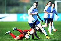 Fotball <br /> La Manga<br /> 28.02.2015<br /> Foto: Morten Olsen/Digitalsport<br /> <br /> Women U23 tournament<br /> Landskamp kvinner U23<br /> Norge v USA / Norway v USA 0:2<br /> <br /> Synne Skinnes Hansen (11) - NOR