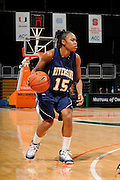 December 18, 2010: Brittany Waddell of the  California Riverside Highlanders in action during the NCAA basketball game between the Miami Hurricanes and the Highlanders. The 'Canes defeated the Highlanders 81-59.