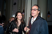 DIANA ALVAREZ; SIMON ASTAIRE, Henry Porter hosts a launch for Songs of Blood and Sword by Fatima Bhutto. The Artesian at the Langham London. Portland Place. 15 April 2010. *** Local Caption *** -DO NOT ARCHIVE-© Copyright Photograph by Dafydd Jones. 248 Clapham Rd. London SW9 0PZ. Tel 0207 820 0771. www.dafjones.com.<br /> DIANA ALVAREZ; SIMON ASTAIRE, Henry Porter hosts a launch for Songs of Blood and Sword by Fatima Bhutto. The Artesian at the Langham London. Portland Place. 15 April 2010.