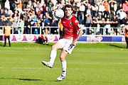 Salford City midfielder Tom Walker during the EFL Sky Bet League 2 match between Salford City and Port Vale at Moor Lane, Salford, United Kingdom on 17 August 2019.