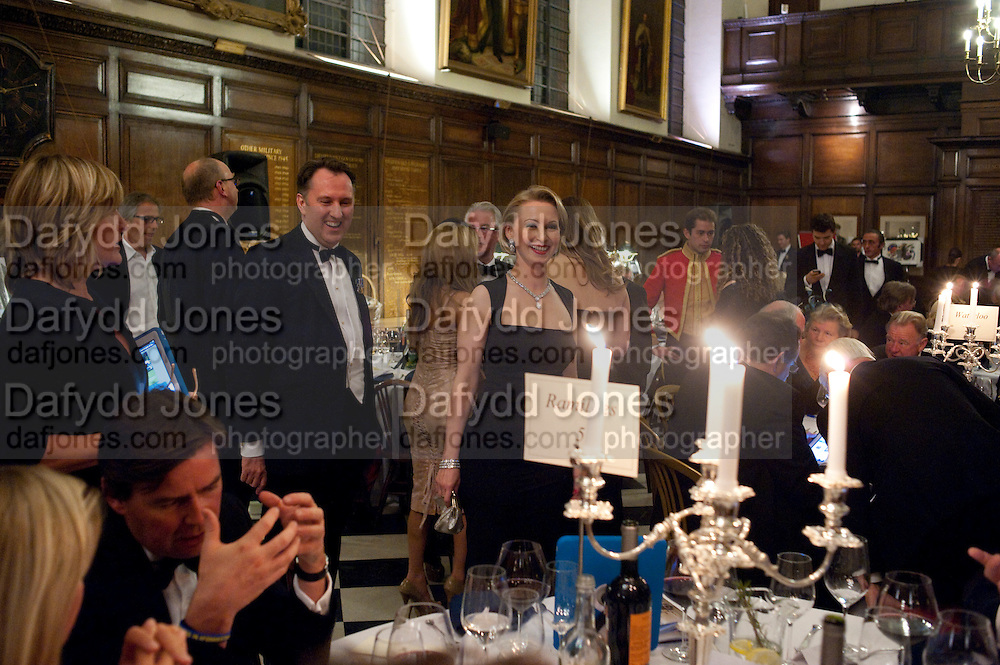 JURGA ZILINSKIENE; DAVID CLARKE, Charity Dinner in aid of Caring for Courage The Royal Scots Dragoon Guards Afganistan Welfare Appeal. In the presence of the Duke of Kent. The Royal Hospital, Chaelsea. London. 20 October 2011. <br /> <br />  , -DO NOT ARCHIVE-© Copyright Photograph by Dafydd Jones. 248 Clapham Rd. London SW9 0PZ. Tel 0207 820 0771. www.dafjones.com.