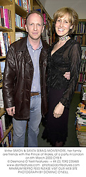 Writer SIMON & SANTA SEBAG-MONTEFIORE, her family are friends with the Prince of Wales, at a party in London on 6th March 2002.OYB 8