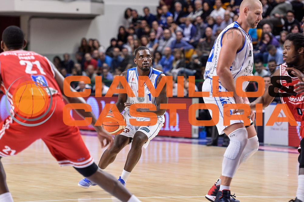 Darius Johnson-Odom<br /> Dinamo Banco di Sardegna Sassari - Consultinvest Victoria Libertas Pesaro<br /> Lega Basket Seire A 2016/2017<br /> Sassari 30/10/2016<br /> Foto Ciamillo-Castoria