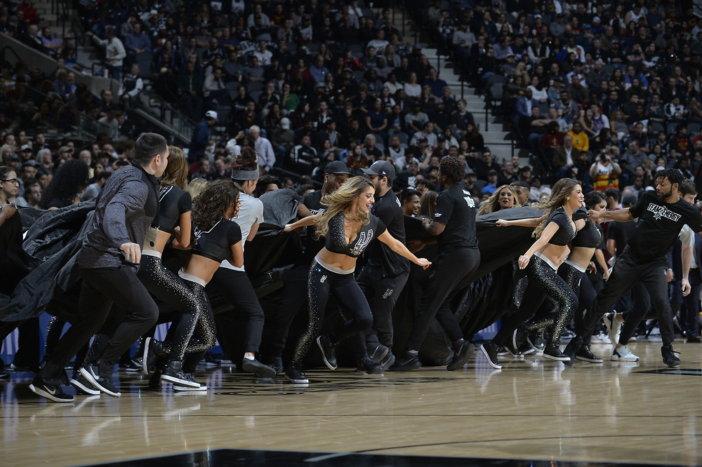SAN ANTONIO TX - January 23:   XXX of the San Antionio Spurs against the Cleveland Cavaliers on January 23 at the AT&T Center in San Antonio, Texas.  NOTE TO USER: User expressly acknowledges and agrees that, by downloading and or using this photograph, User is consenting to the terms and conditions of the Getty Images License Agreement. Mandatory Copyright Notice: Copyright 2017 NBAE (Photo by Mark Sobhani/NBAE via Getty Images)