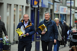 Willie Rennie, Dunfermline, 29-4-2016<br /> <br /> Tim Farron and Willie Rennie meet voters in Dunfermline<br /> <br /> (c) David Wardle | Edinburgh Elite media