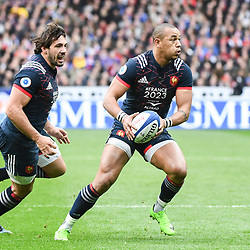 Kevin Gourdon and Gael Fickou of France during the RBS Six Nations match between France and Wales at Stade de France on March 18, 2017 in Paris, France. (Photo by Anthony Dibon/Icon Sport)