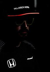 November 23, 2017 - Abu Dhabi, United Arab Emirates - Fernando Alonso of Spain and McLaren Honda Team driver gives an interview on Formula One Etihad Airways Abu Dhabi Grand Prix on Nov 23, 2017 in Yas Marina Circuit, Abu Dhabi, UAE. (Credit Image: © Robert Szaniszlo/NurPhoto via ZUMA Press)
