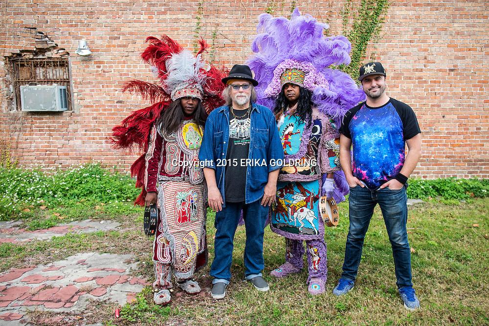 Chawa band portrait at Handa Wanda's on November 27, 2015, in New Orleans, LA. (Erika Goldring Photo)