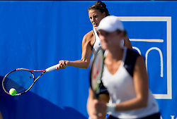 Andreja Klepac of Slovenia and Elena Bovina of Russia at 2nd Round of Doubles at Banka Koper Slovenia Open WTA Tour tennis tournament, on July 21, 2010 in Portoroz / Portorose, Slovenia. (Photo by Vid Ponikvar / Sportida)