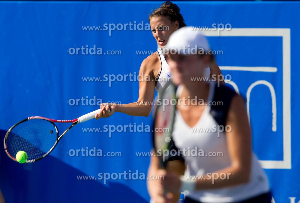 Andreja Klepac of Slovenia and Elena Bovina of Russia at 2nd Round of Doubles at Banka Koper Slovenia Open WTA Tour tennis tournament, on July 21, 2010 in Portoroz / Portorose, Slovenia. (Photo by Vid Ponikvar / Sportida)