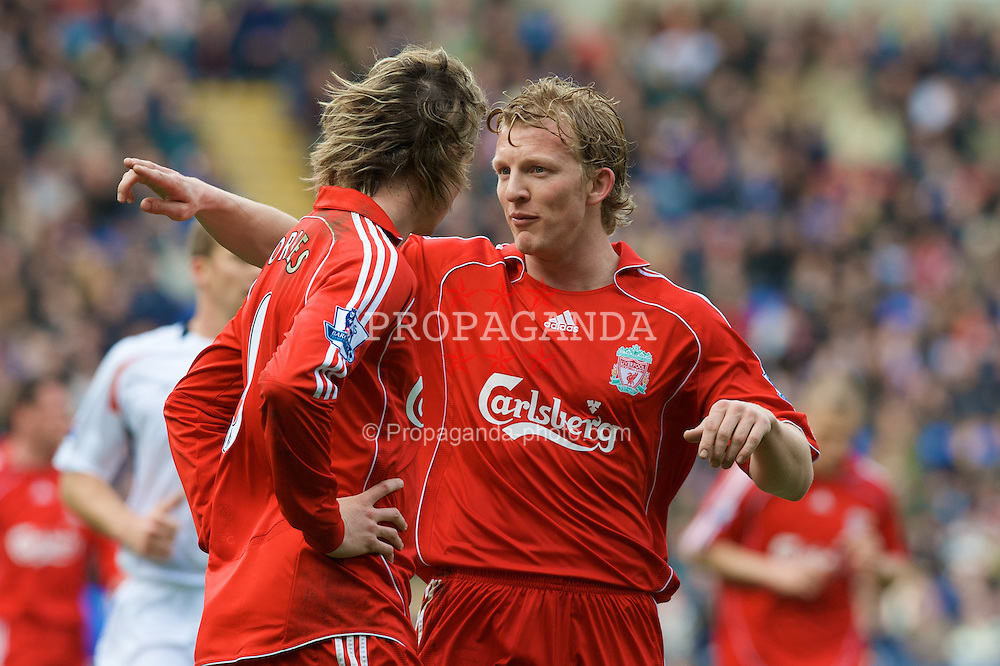 BOLTON, ENGLAND - Sunday, March 2, 2008: Liverpool's Dirk Kuyt and Fernando Torres during the Premiership match against Bolton Wanderers at the Reebok Stadium. (Photo by David Rawcliffe/Propaganda)