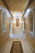 Marble hallway corridor of Palm Springs home