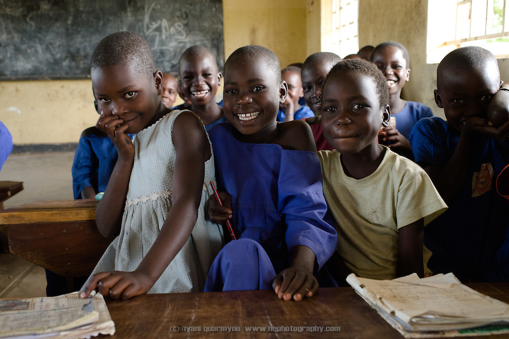 Students in class at Aputiri Primary School in Eastern Uganda on 31 July 2014. The school participates in a Menstrual Health Management program supported by Plan International, which is aimed at both boys and girls.