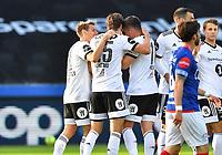Fotball Menn Eliteserien Rosenborg-Vålerenga<br /> Lerkendal Stadion,Trondheim<br /> 1 juli 2020<br /> <br /> Marius Lundemo (25) har scoret 1-0 for Rosenborg<br /> <br /> <br /> Foto : Arve Johnsen, Digitalsport