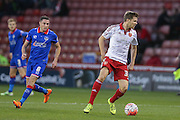 Sheffield United midfielder, on loan from Leicester City, Dean Hammond   during the The FA Cup match between Sheffield Utd and Oldham Athletic at Bramall Lane, Sheffield, England on 5 December 2015. Photo by Simon Davies.