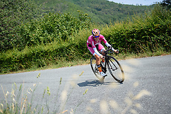 Evelyn Stevens (Boels Dolmans) on her way to a third stage win at this year's Giro Rosa on Stage 7. A 21.9 km individual time trial from Albisola to Varazze, Italy on July 8th 2016.
