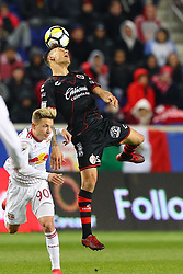 March 13, 2018 - Harrison, NJ, U.S. - HARRISON, NJ - MARCH 13:  Tijuana midfielder Damian Musto (5) during the second half of the CONCACAF Champions League Quarter-final match between the New York Red Bulls and Club Tijuana on March 13, 2018, at Red Bull Arena in Harrison, NJ.  (Photo by Rich Graessle/Icon Sportswire) (Credit Image: © Rich Graessle/Icon SMI via ZUMA Press)