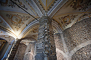 Chapel of the Bones (Capela dos Ossos, 17th century), at the Royal church of S Francisco (Igreja real de S Francisco, 15th-16th century). Évora, Alentejo, Portugal (March 2016) © Rudolf Abraham