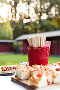 party outdoors, tasty appetizer