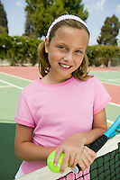 Girl at Tennis Net