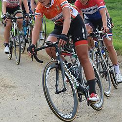 06-09-2015: Wielrennen: Ladiestour: Valkenburg<br /> VALKENBURG (NED) wielrennenDe slotetappe van de Boels Ladies Tour startte traditioneel in Bunde en voerde het peloton door het Limburgse Heuvelland met finish op de top van de Cauberg. Lisa Brennauer