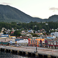 Downtown View of Ketchikan, Alaska <br />
