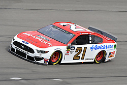 March 1, 2019 - Las Vegas, NV, U.S. - LAS VEGAS, NV - MARCH 01: Paul Menard (21) Wood Brothers Racing Team Ford Mustang GT drives through turn four during practice for the Monster Energy NASCAR Cup Series 22nd Annual Pennzoil 400 on March 1, 2019, at the Las Vegas Motor Speedway in Las Vegas, Nevada. (Photo by Michael Allio/Icon Sportswire) (Credit Image: © Michael Allio/Icon SMI via ZUMA Press)