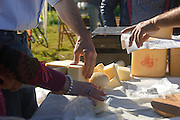 Market garden in Palermo within community  gardening, producer of local cheese.<br /> Ecomercato all'interno dell'orto urbano condiviso con prodotti biologici, produttore di formaggi locali.