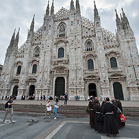 MILAN, ITALY - JUNE 14:  Capuchine monks ready to attend the funeral of Monsignor Luigi Padovese at the Duomo on June 14, 2010 in Milan, Italy. Monsignor Luigi Padovese Bishop in Anatolia was murdered by his own driver on June 3rd in Iskenderun, Turkey ***Agreed Fee's Apply To All Image Use***<br /> Marco Secchi /Xianpix<br />  tel +44 (0) 207 1939846<br />  e-mail ms@msecchi.com <br /> www.marcosecchi.com