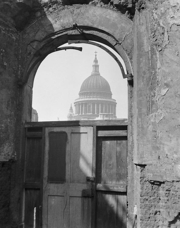Blitz Damage, Through Arch, London, c.1940