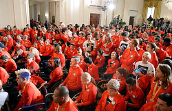 2016 U.S. Olympic and Paralympic teams attend an event in the East Room to honor their participation and success in this year's Games in Rio in the White House on September 29, 2016 in Washington, DC. Photo by Olivier Douliery/abaca