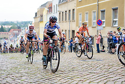 Lisa Brennauer (CANYON//SRAM Racing) charges up the Meerane Wall at Thüringen Rundfarht 2016 - Stage 3 a 115km road race starting and finishing in Altenburg, Germany on 17th July 2016.