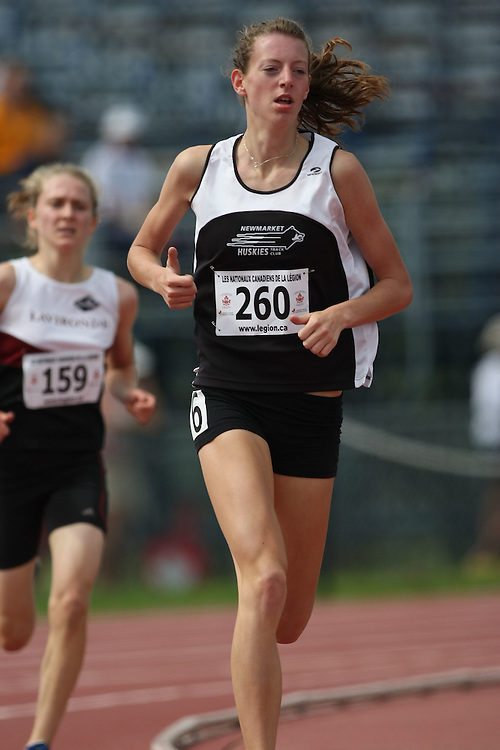 (Sherbrooke, Quebec---10 August 2008) Kaitlin O'Hagan competing in the 1500m at the 2008 Canadian National Youth and Royal Canadian Legion Track and Field Championships in Sherbrooke, Quebec. The photograph is copyright Sean Burges/Mundo Sport Images, 2008. More information can be found at www.msievents.com.