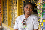 Diopse Sandy runs a sign painting business called 'Statement Art Gallery'.<br /> <br /> The main thing she has got from the business up port text message service is around treating her staff better and the broader motivational impact of the messages, encouraging her to carry on. <br /> <br /> She is the only woman running this type of business in the area.