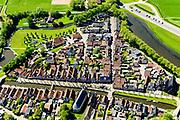 Nederland, Friesland, gemeente De Friese Meren, 07-05-2018; De Zuidwesthoek, Sloten (Sleat), een van de Friese elf steden. Voormalige vestingstad, beschermd stadsgezicht.<br /> Former fortified city, heritage site.<br /> luchtfoto (toeslag op standard tarieven);<br /> aerial photo (additional fee required);<br /> copyright foto/photo Siebe Swart
