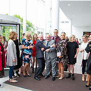 11.05. 2017.                                                 <br /> Over 20 leading Irish and international fashion media and influencers converged on Limerick for 24 hours on, Thursday, 11th May for a showcase of Limerick&rsquo;s fashion industry, culminating with Limerick School of Art &amp; Design, LIT, presenting the LSAD 360&deg; Fashion Show, sponsored by AIB.<br /> Pictured at the event were, Prof. Vincent Cunnane and Cllr. Kieran O'Hanlon, Mayor of Limerick City and County with the Limerick Tagged group. Picture: Alan Place