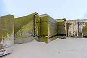 A long abandoned fortified bunker on the beach near Cape May.
