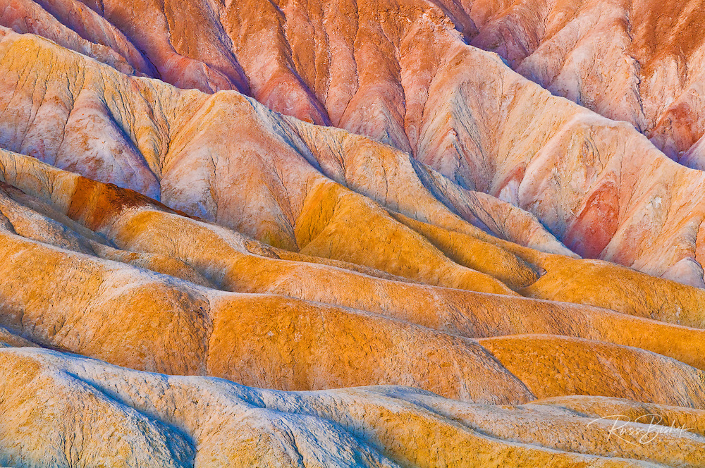 Eroded hills below Zabriskie Point, Death Valley National Park. California