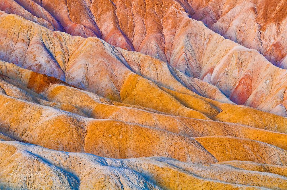 Eroded hills below Zabriskie Point, Death Valley National Park. California