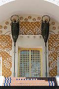 Portal des Ernst-Ludwig-Hauses, Mathildenhöhe, Jugendstil, Darmstadt, Hessen, Deutschland | Centre of Art Noveau on Mathildenhoehe, Darmstadt, Germany