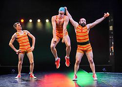 Pictured: Splash Test Dummies (Australia)<br /> <br /> Performers from across the globe came together at the Edinburgh Festival to mark the 250th anniversary of circus performances.<br /> <br /> &copy; Dave Johnston / EEm