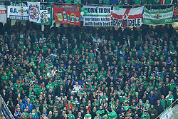 November 12, 2017 - Basel, Switzerland - FIFA World Cup Qualifiers play-off Switzerland v Northern Ireland.Norhtern Ireland supporters at St. Jakob-Park in Basel, Switzerland on November 12, 2017. (Credit Image: © Matteo Ciambelli/NurPhoto via ZUMA Press)