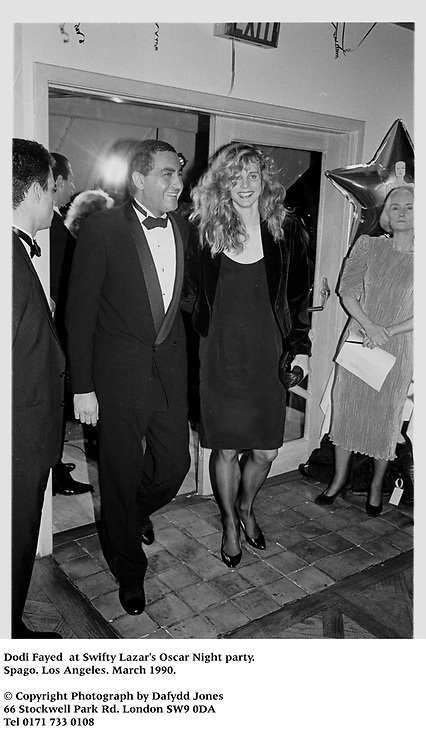Dodi Fayed  at Swifty Lazar's Oscar Night party. Spago. Los Angeles. March 1990.<br />